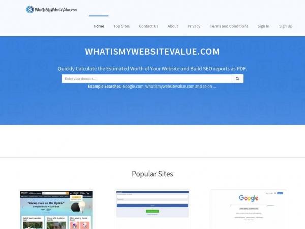 whatismywebsitevalue.com